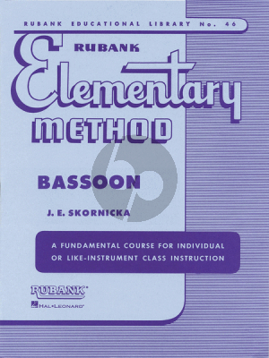 Skornicka Elementary Method for Bassoon (Fundamental Course for Individual or like Instrument Class Instruction)