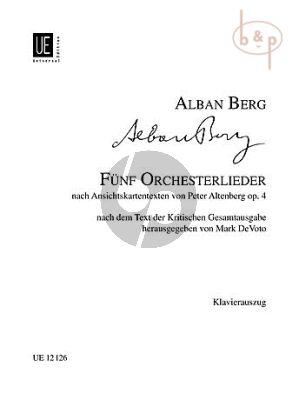 5 Orchesterlieder Op.4 Nach Ansichts Kartentexten von Peter Altenburg