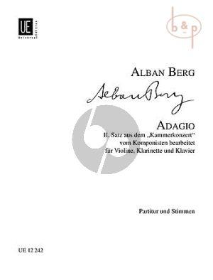 Berg Adagio (aus Kammerkonzert) Klarinette(Bb)-Violine-Klavier (Part/St.)