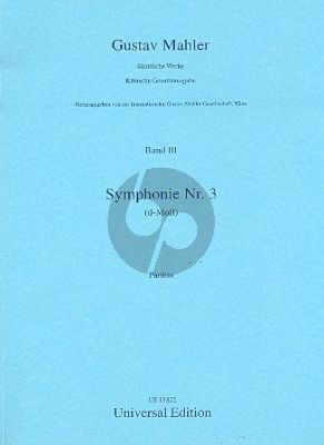 Mahler Symphony No.3 Alto-Boys' choir-Female choir and Orchestra) Score (Erwin Ratz)