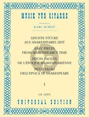 Leichte Stücke aus Shakespeares Zeit Gitarre (Karl Scheit)