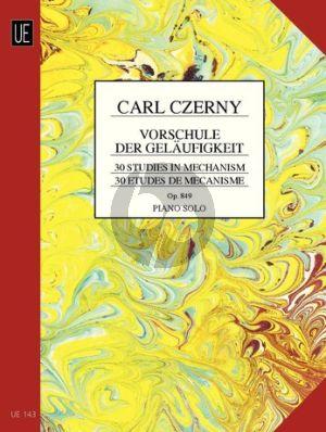 Czerny Vorschule der Gelaufigkeit Op.849 Klavier