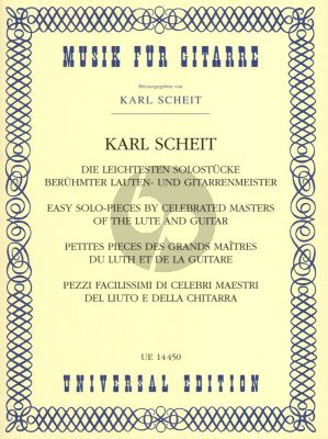 Album Die Leichtesten Solostucke beruhmter Lauten- und Gitarrenmeister (compiled and edited by Karl Scheit)