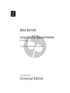 Ungarische Bauernlieder Orchestra Score
