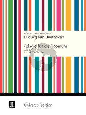 Beethoven Adagio für die Flötenuhr F-dur WoO 33/1 Orgel zu 4 Hd