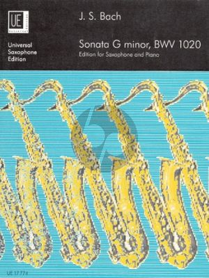 Sonate g-minor BWV 1020 Saxophone and Piano