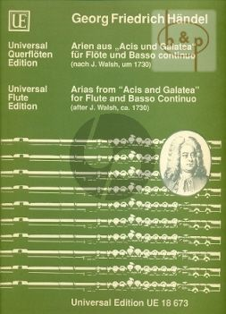 Arias from Acis & Galatea (Flute-Piano) (after Walsh 1730)