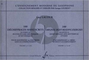 100 Dechiffrages Manuscrits Vol.1 Saxophone