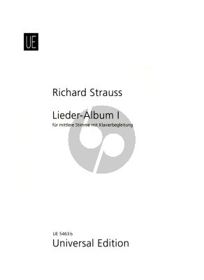 Strauss Lieder Album Vol.1 Mittelstimme und Klavier (German/English)