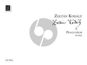 Kodaly Praeludium aus Pange Lingua (1929) Orgel