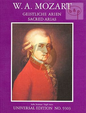 Mozart Geistliche Arien (Hohe Stimme) (Prof.Walter Braunfels)