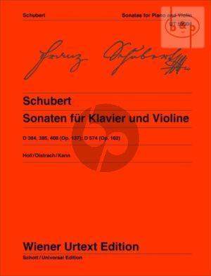 Sonaten (D 384 , 385 , 408 [Op.137]; D 574 [Op.162])