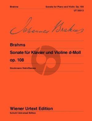 Brahms Sonate d moll Op.108 (1886/88) Violine-Klavier (Herausgegeben von Gunter Kehr) (Wiener-Urtext)
