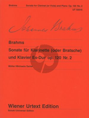 Brahms Sonate Es-dur Op.120 No.2 for Clarinet or Viola and Piano