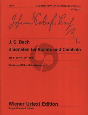 Bach 6 Sonaten Vol.1 BWV 1014-1016 Violine-Bc (Wiener-Urtext)