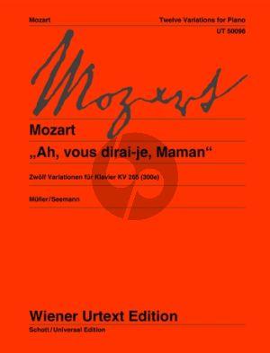 Mozart Ah vous dirai-je Maman (12 Variationen) KV 265 Klavier