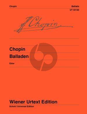 Chopin Ballades Piano (edited by Jan Ekier) (Wiener-Urtext)