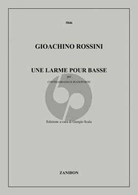 Rossini Une Larme pour Basse Double Bass-Piano
