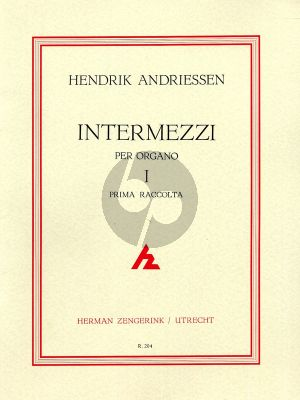 Andriessen Intermezzi Vol.1 Orgel
