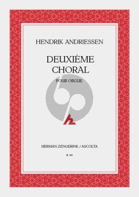 Andriessen Deuxième Choral Orgel