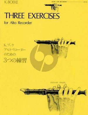 Boeke 3 Exercises for Treble Recorder