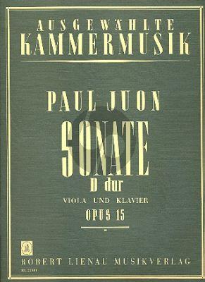 Juon Sonate D-dur Op.15 fur Viola und Klavier