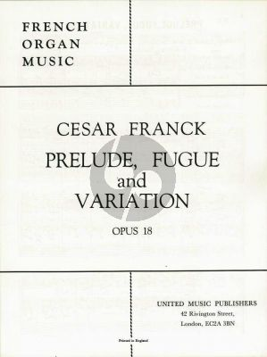 Prelude-Fugue & Variation Op.18 Organ