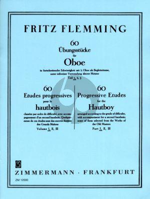 Flemming 60 Ubungsstucke Vol. 1 in fortschreitender Schwierigkeit mit 2.Oboe als Begleitstimme