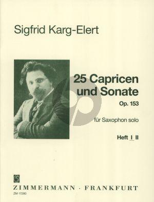 Karg-Eleret 25 Capricen & Sonate Op.153 Vol.1 Saxophon