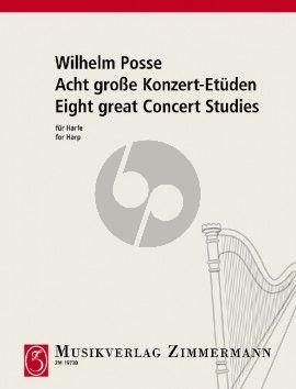 Posse 8 Grosse Konzert Etuden Harp
