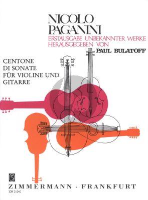 Paganini Centone di Sonate (Sonate 7-12) fur Violine und Gitarre (Herausgegeben von Paul Bulatoff)