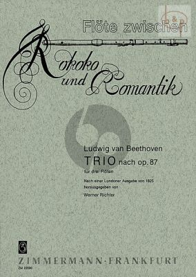 Trio Op. 87 3 Flutes (after an edition of 1825)
