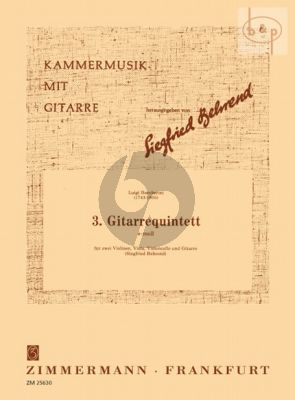Quintet No.3 e-minor (2 Vi.-Va.-Vc.-Guitar)