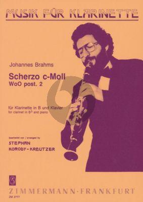 Scherzo c-moll Wo0 post.2 Clarinet-Piano