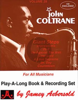 Coltrane Jazz Improvisation Vol.28 John Coltrane Giant Steps for Any C, Eb, Bb, Bass Instrument or Voice - Intermediate/Advanced (Bk-Cd)