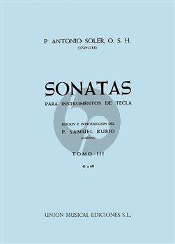 Soler Sonatas Vol.3 (No.41-60) Harpsichord (ed. P.Samuel Rubio)