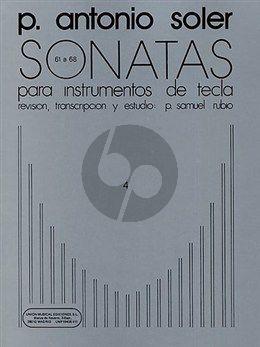 Soler Sonatas Vol.4 (No.61-68) Harpsichord (P. Samuel Rubio)