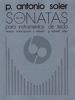 Soler Sonatas Vol.5 (No.69-90) Harpsichord (ed. P.Samuel Rubio)