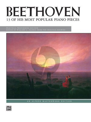 Beethoven 13 of his most popular Pieces Piano solo (Willard A. Palmer)