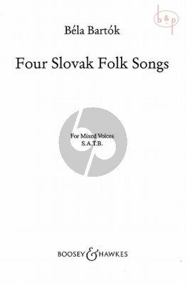 4 Slovak Folksongs SATB-Piano