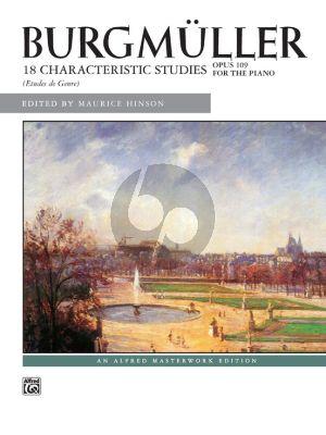 Burgmuller 18 Studies Op.109 Piano (edited Maurice Hinson)