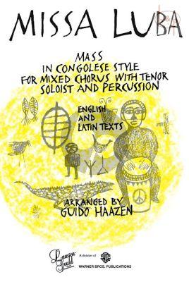 Haazen Missa Luba Tenor solo-SATB-Percussion