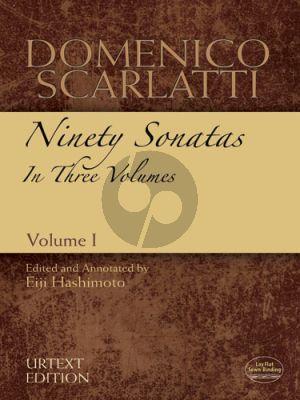Scarlatti 90 Sonatas Vol. 1 No. 1 - 30 Harpsichord (edited by Dr. Eiji Hashimoto) (Dover)