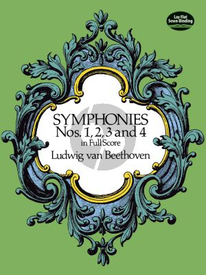 Beethoven Symphonies No.1-2-3-4 Full Score (Dover)