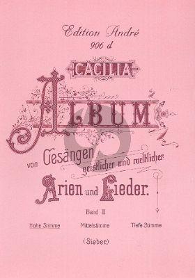 Caecilia Album vol.2 (Hoch) (Geistliche und Weltliche Arien und Lieder) (Italian/German)