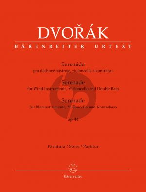 Serenade Op.44 Wind Instruments-Violoncello and Double Bass Full Score