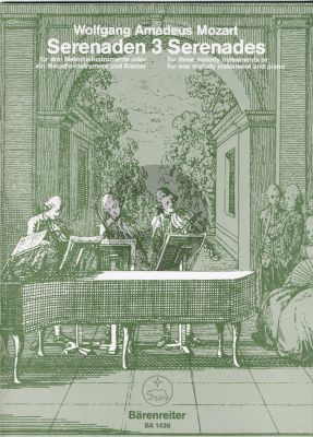 Mozart Serenaden KV 439b Vol.3 Melodie Instr.-Klavier (oder 3 Blfl.) (Irmer-Maguerre)