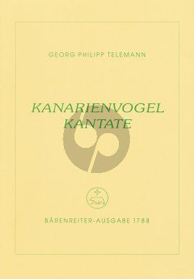 Telemann Kanarienvogel Kantate Mittelstimme-2 Violinen- Viola-Bc (Part./Stimmen)