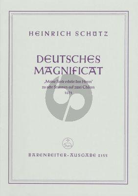 """Schutz Deutsches Magnificat """"Meine Seele erhebt den Herrn"""" SWV 494 (b-minor) (SATB/SATB) (Ameln)"""