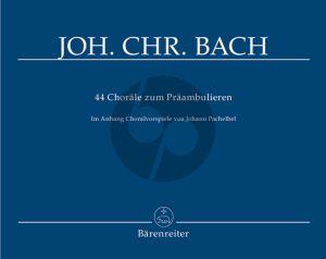 Bach 44 Chorale zum Praambulieren Orgel (Martin Fischer)